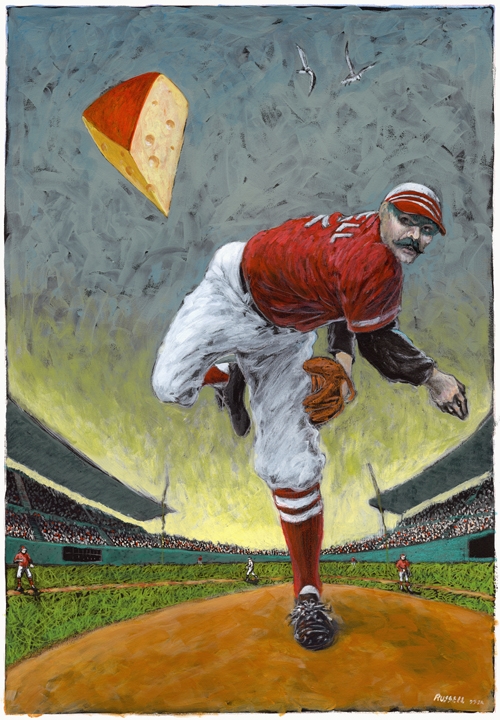 Throwing The Hard Cheese — Ronald R. Russell Art